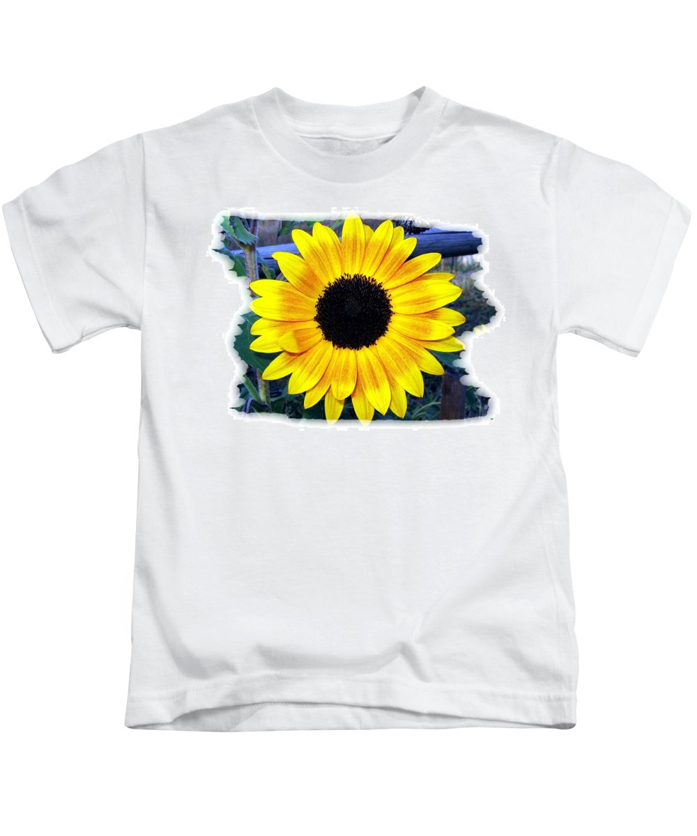 Back Forty Sunflower Kids T-Shirt featuring the photograph Back Forty Sunflower by Will Borden
