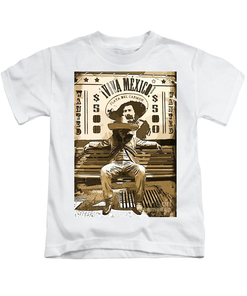 Bandito Kids T-Shirt featuring the photograph Bandito by John Malone
