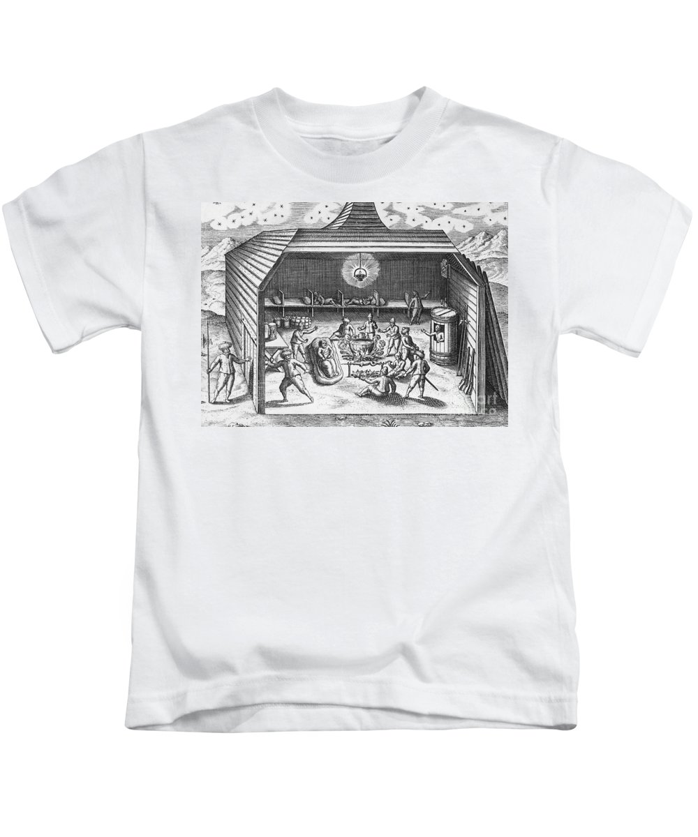 Historic Kids T-Shirt featuring the photograph Barents Expedition Wintering In Arctic by Science Source