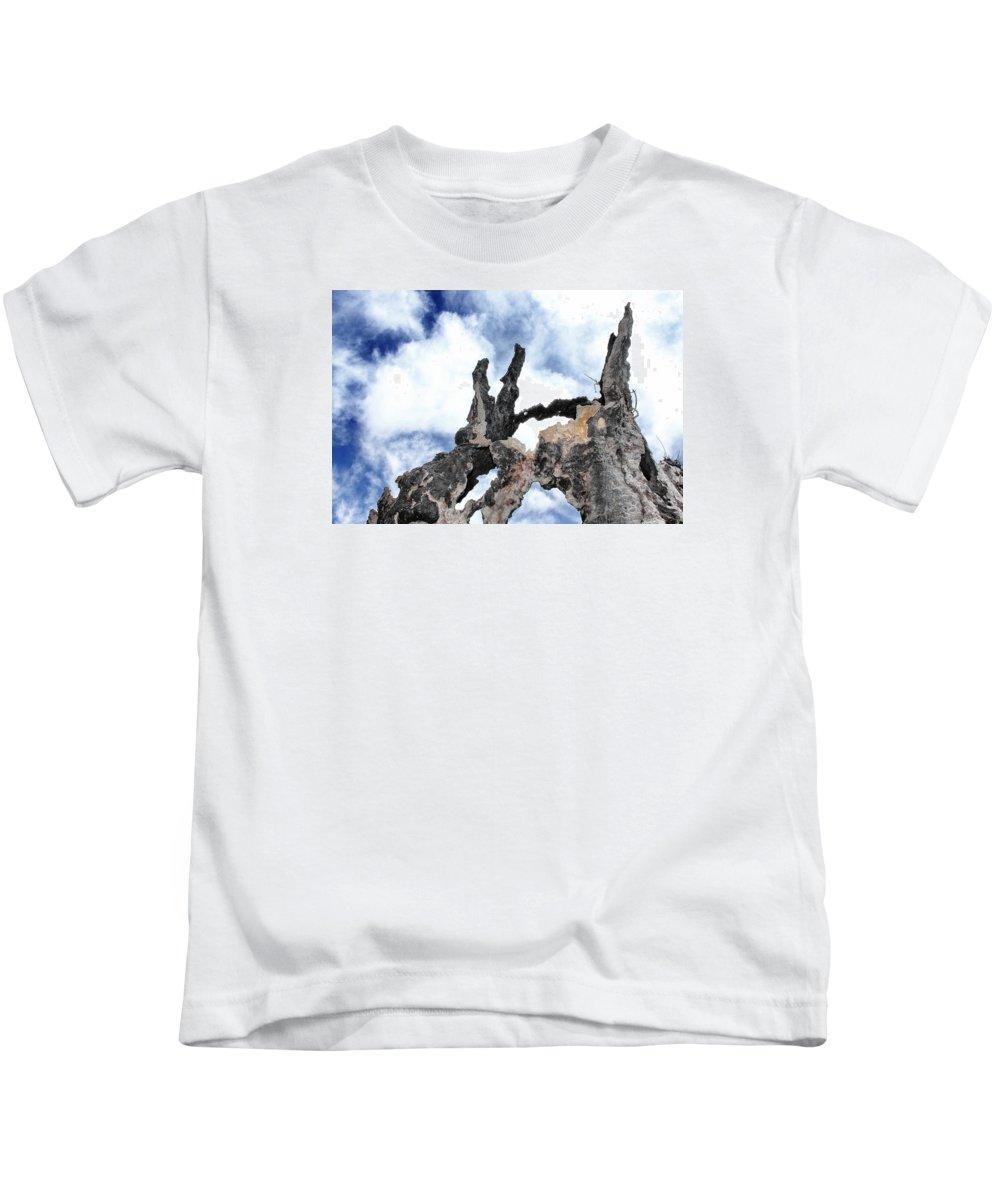 Bark Kids T-Shirt featuring the photograph Bark To The Sky by Myda Muckala