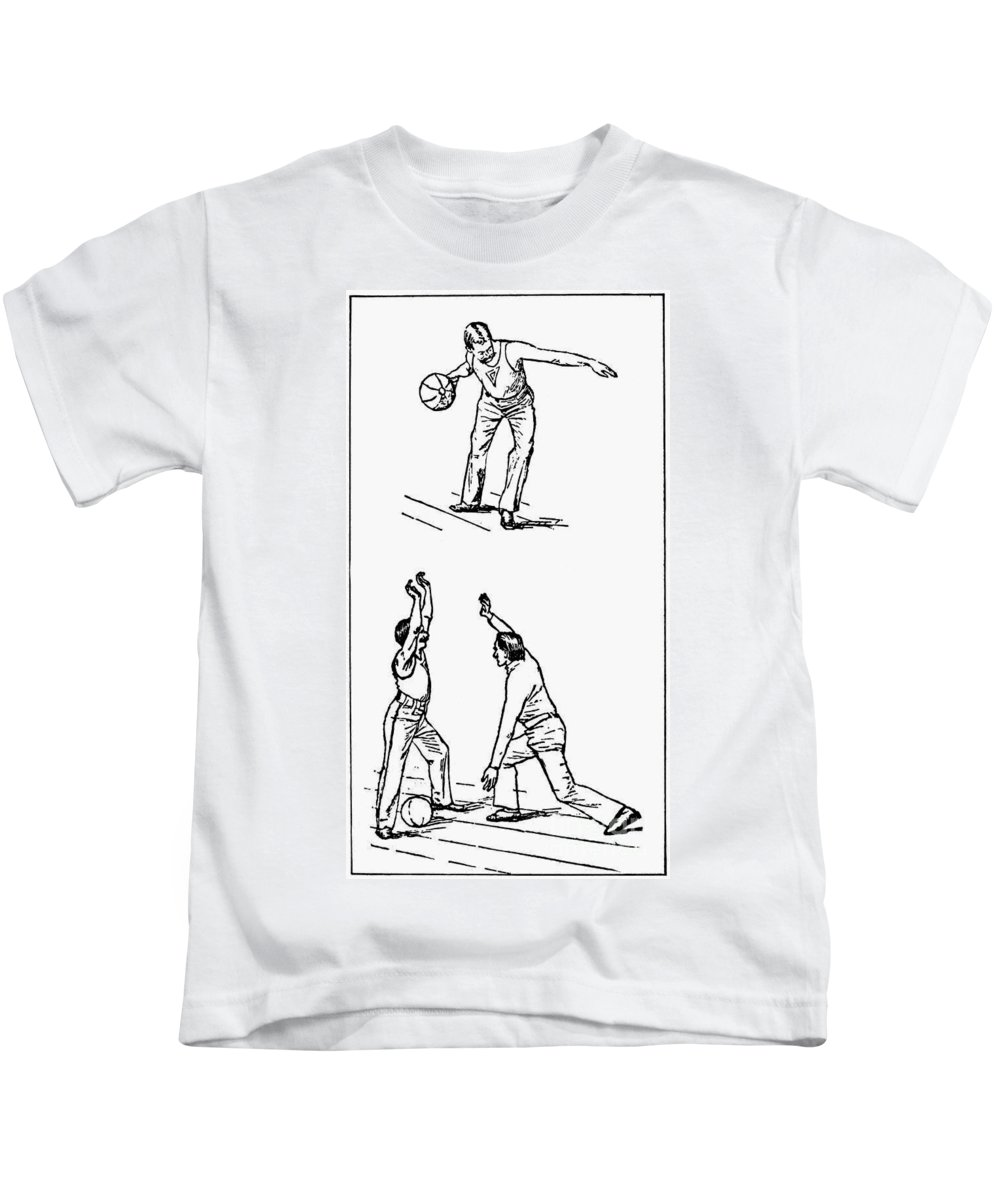 1893 Kids T-Shirt featuring the photograph Basketball, 1893 by Granger