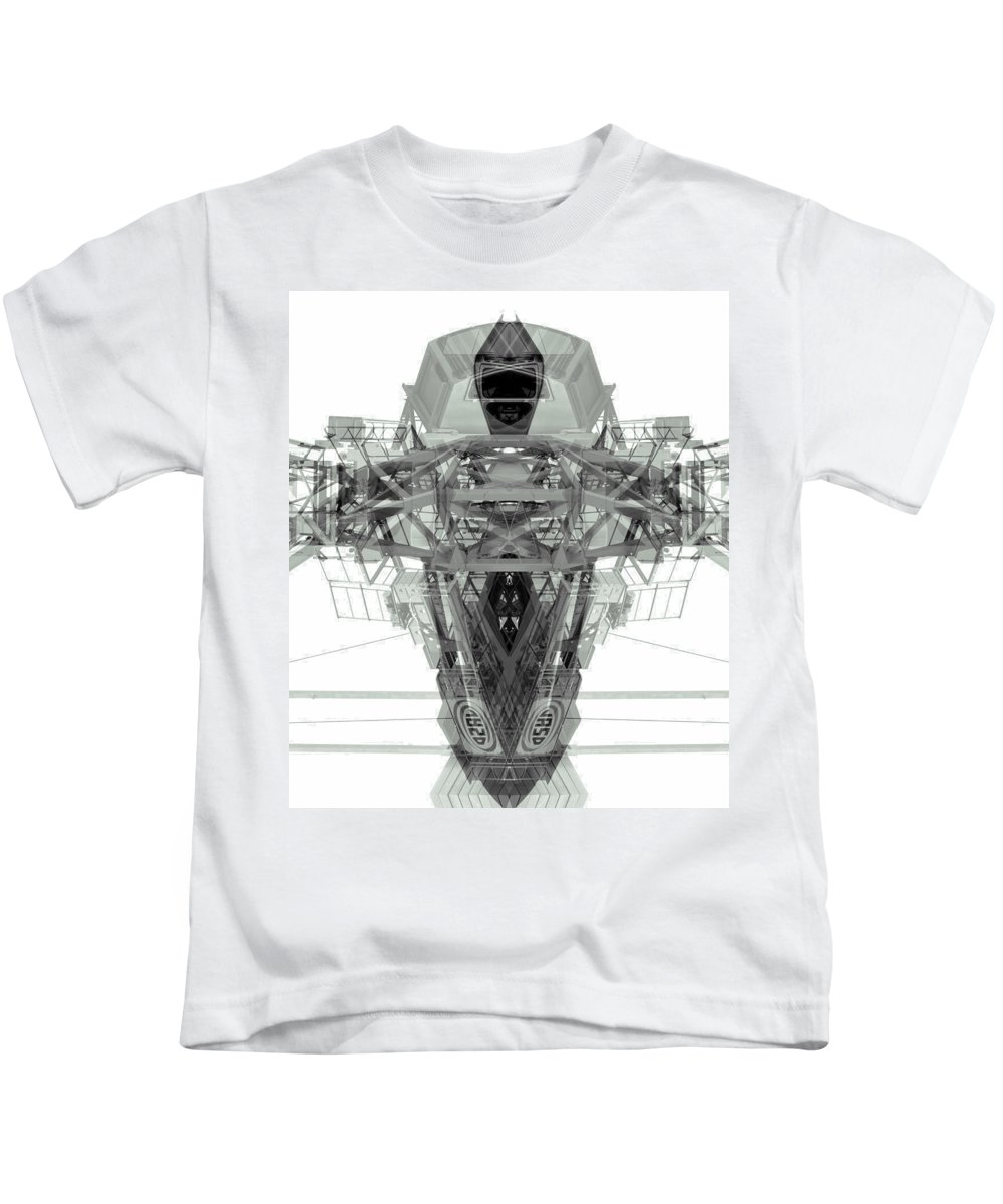 Abstract Kids T-Shirt featuring the photograph Batmachine by Wayne Sherriff