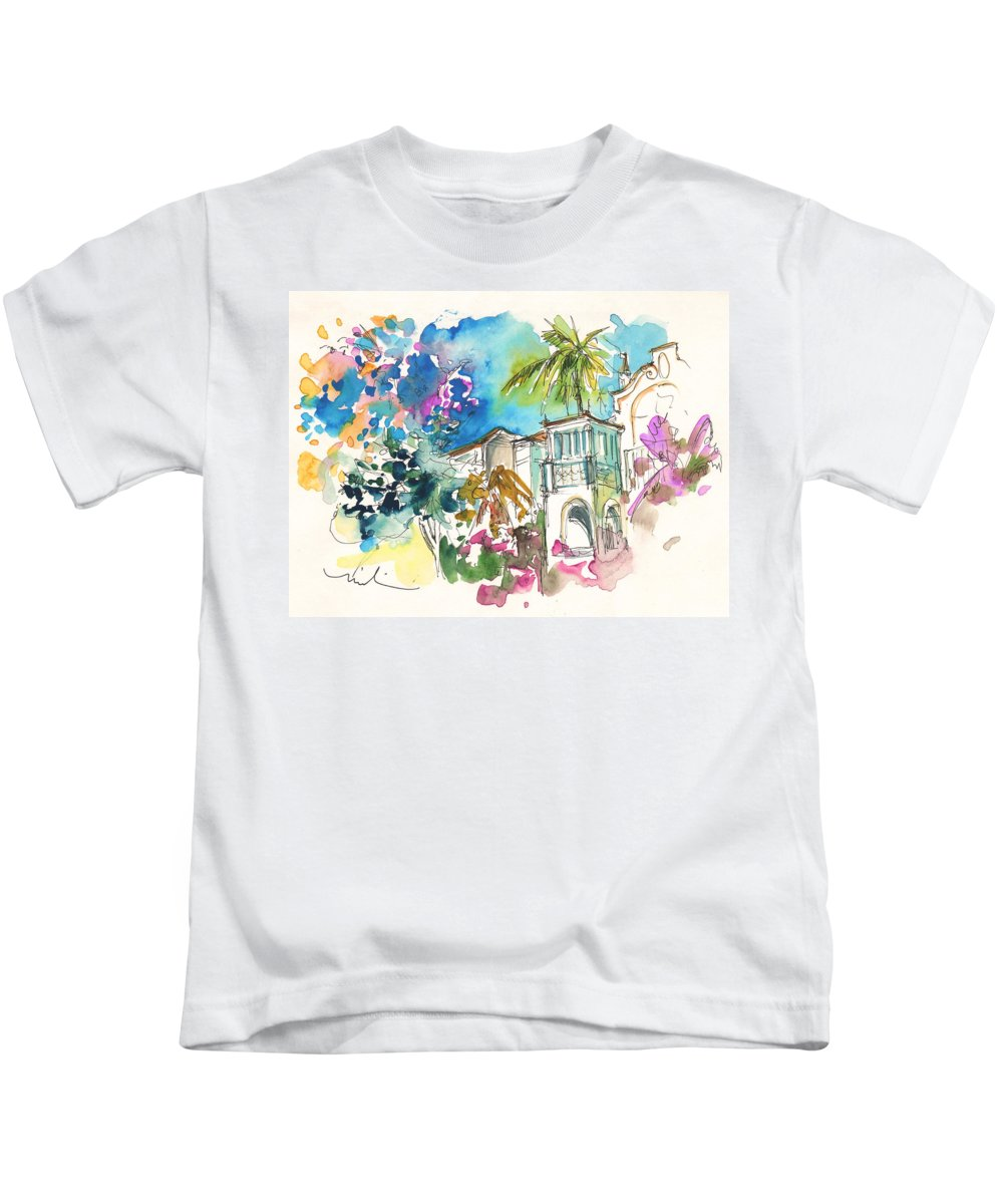 Travel Kids T-Shirt featuring the painting Beautiful House In Sintra by Miki De Goodaboom