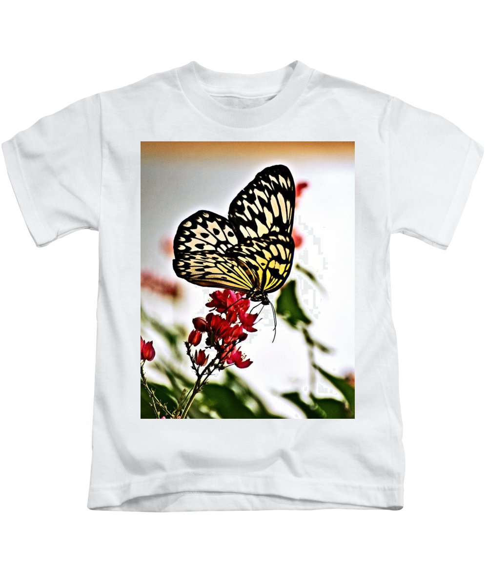 Butterfly Kids T-Shirt featuring the photograph Beauty Wing by Marty Koch
