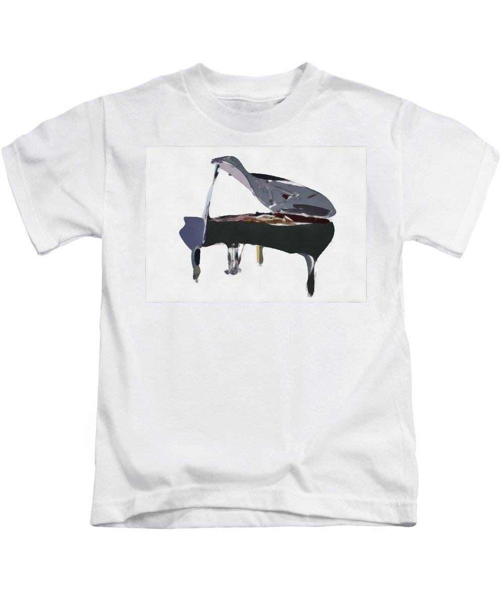 Piano Kids T-Shirt featuring the digital art Bendy Piano by David Ridley