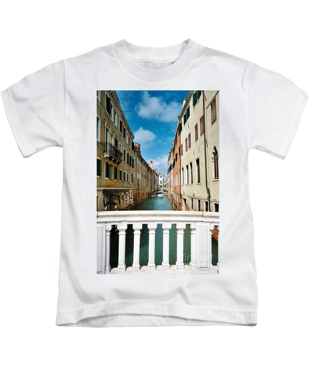 Venice Kids T-Shirt featuring the photograph Beyond The Bridge by Lisa Kilby