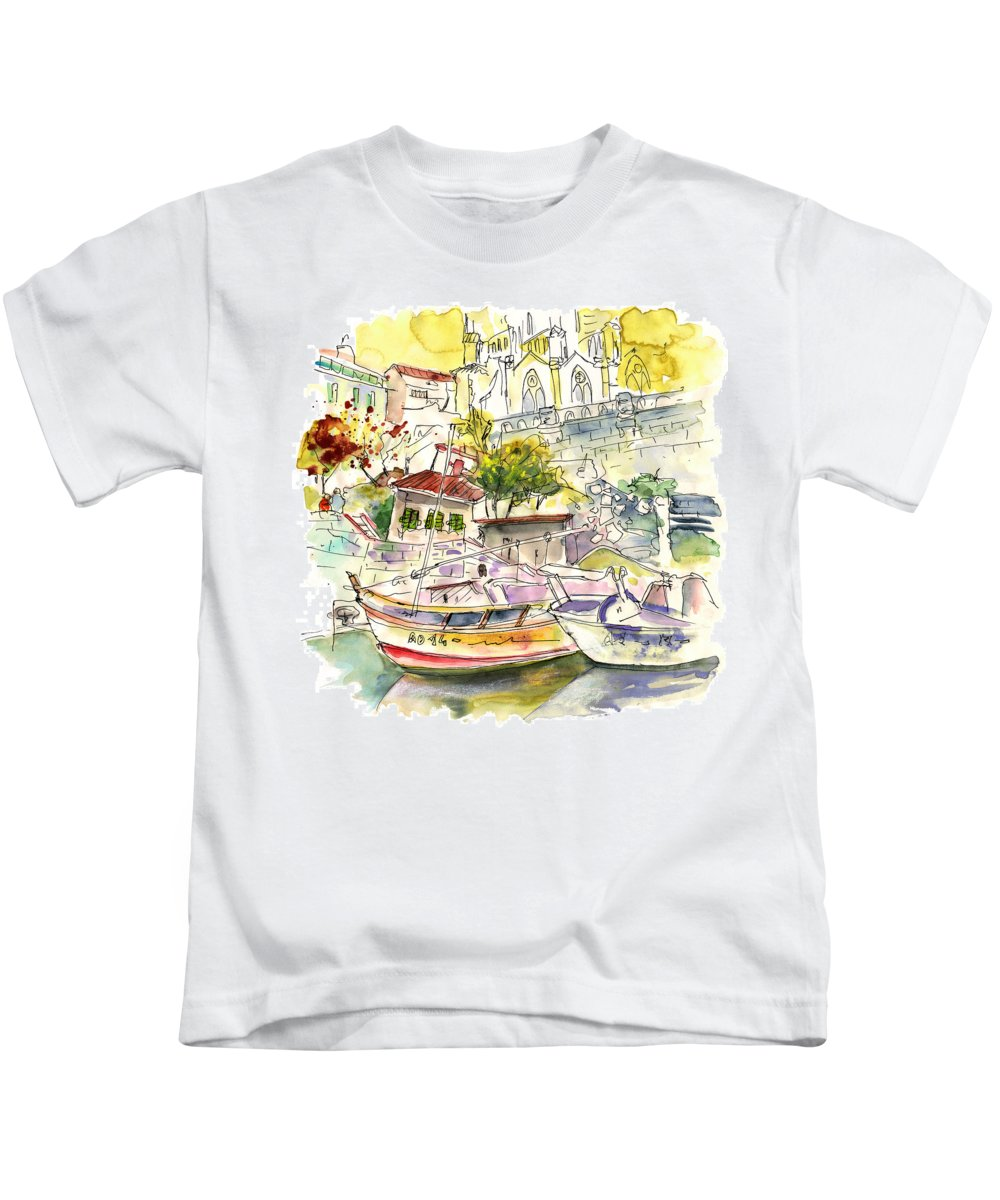 Travel Kids T-Shirt featuring the painting Biarritz 11 by Miki De Goodaboom