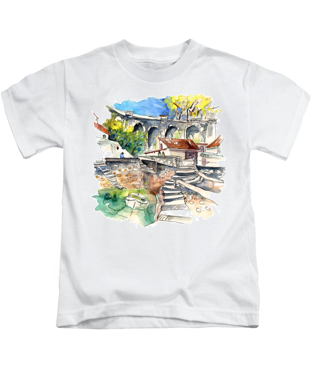 Travel Kids T-Shirt featuring the painting Biarritz 18 by Miki De Goodaboom