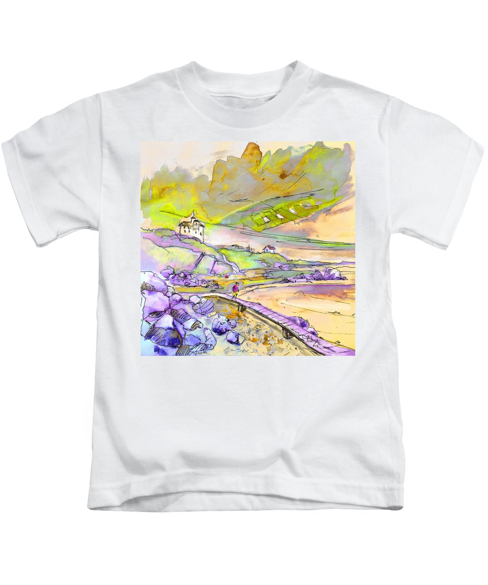 Travel Kids T-Shirt featuring the painting Biarritz 24 by Miki De Goodaboom