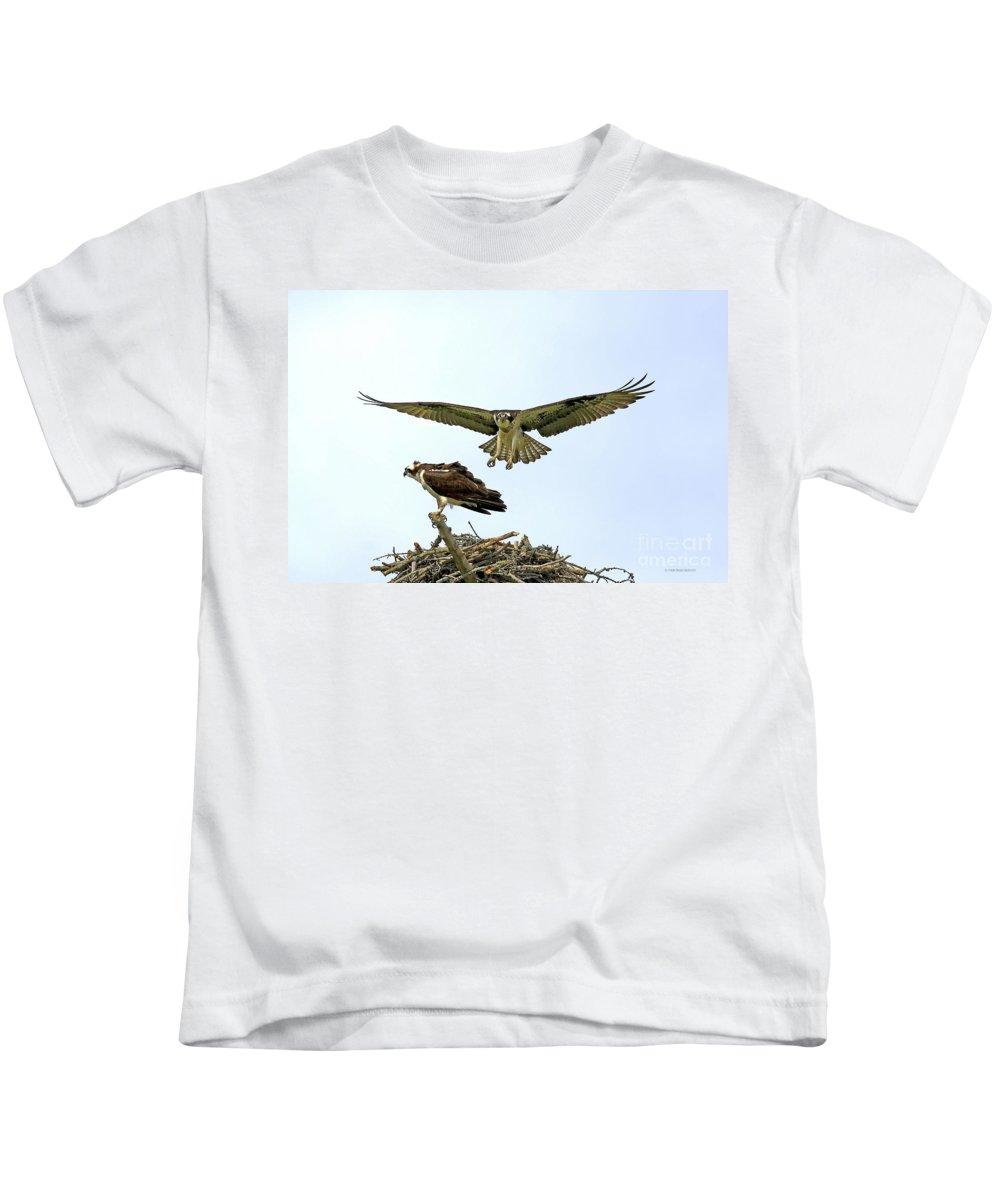 Birds Kids T-Shirt featuring the photograph Birds Of Prey by Deborah Benoit