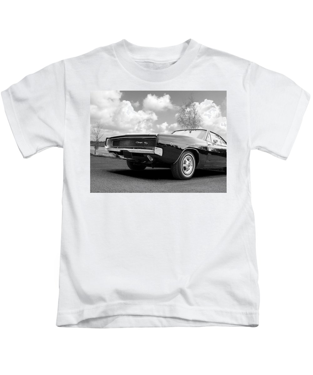Dodge Kids T-Shirt featuring the photograph Black Beaut - Charger R/t by Gill Billington