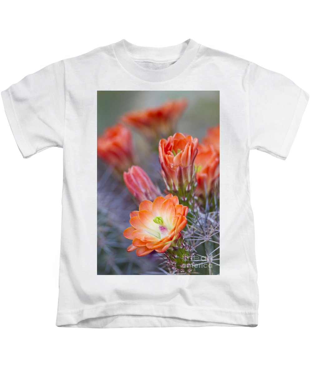 Blooms Kids T-Shirt featuring the photograph Bloom In Orange by Bryan Keil