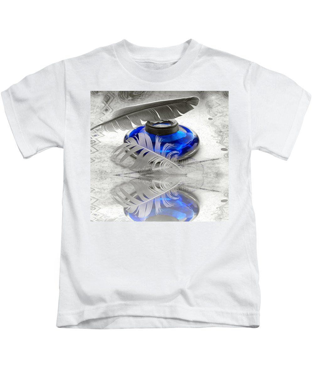 Blue Kids T-Shirt featuring the photograph Blue by Manfred Lutzius