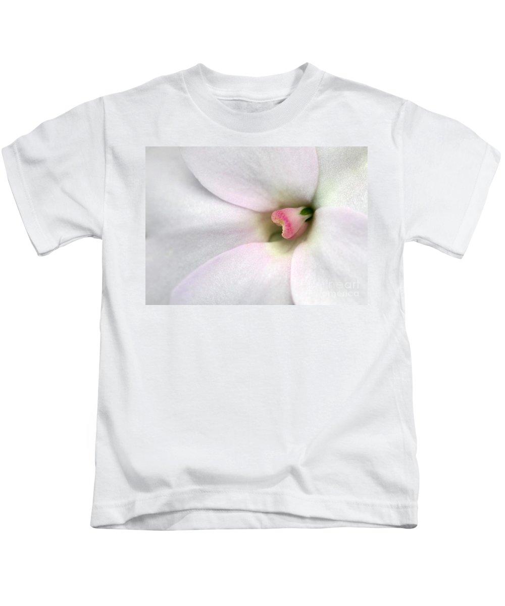 Blush Kids T-Shirt featuring the photograph Blushed by Sabrina L Ryan