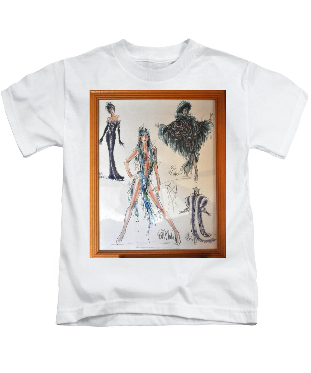 Famous People Kids T-Shirt featuring the photograph Bob Mackie Design by Jay Milo