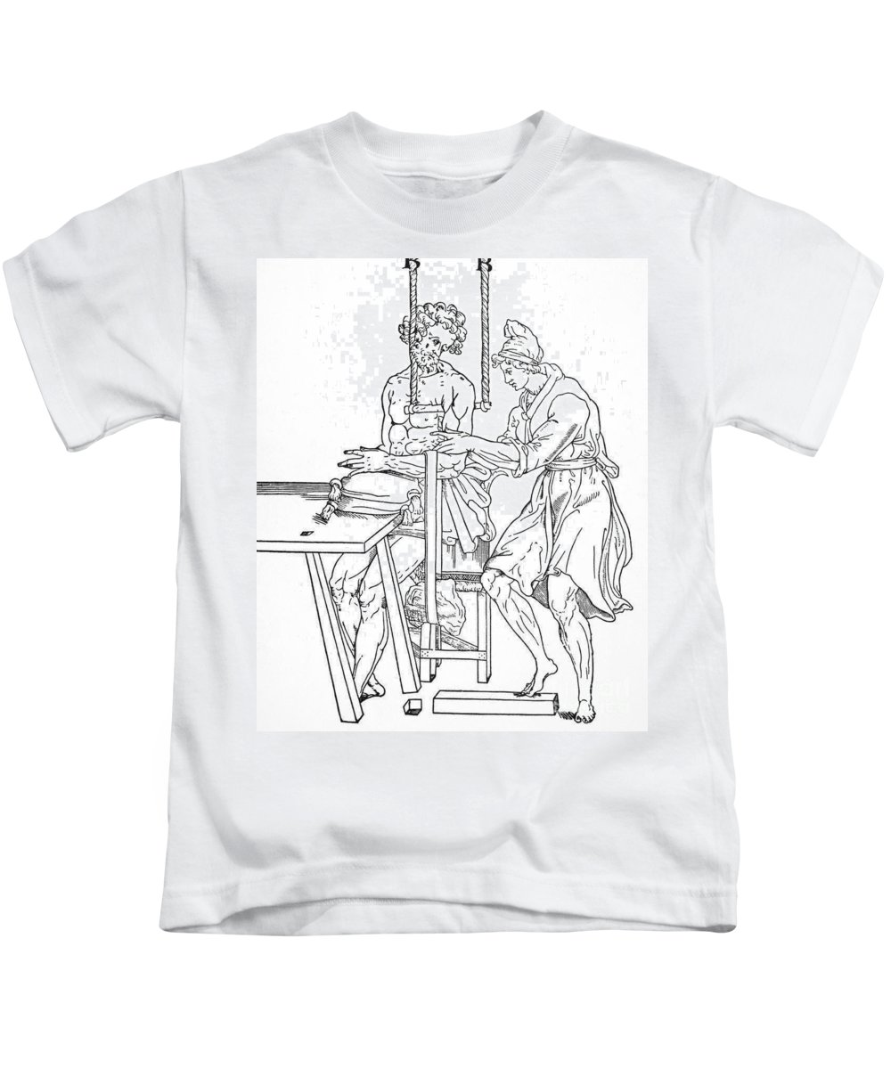 Anatomy Kids T-Shirt featuring the photograph Bone Fracture Repair by Granger