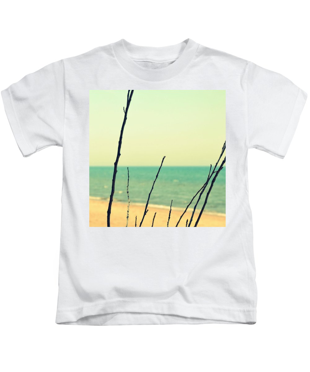 Beach Kids T-Shirt featuring the photograph Branches On The Beach by Michelle Calkins