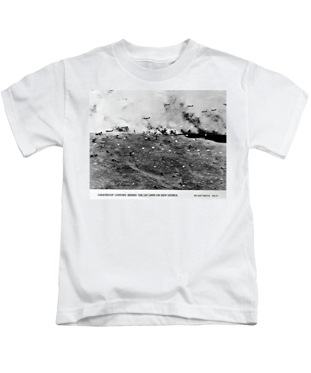 Ww Ii Kids T-Shirt featuring the photograph Brave Men by Unknown