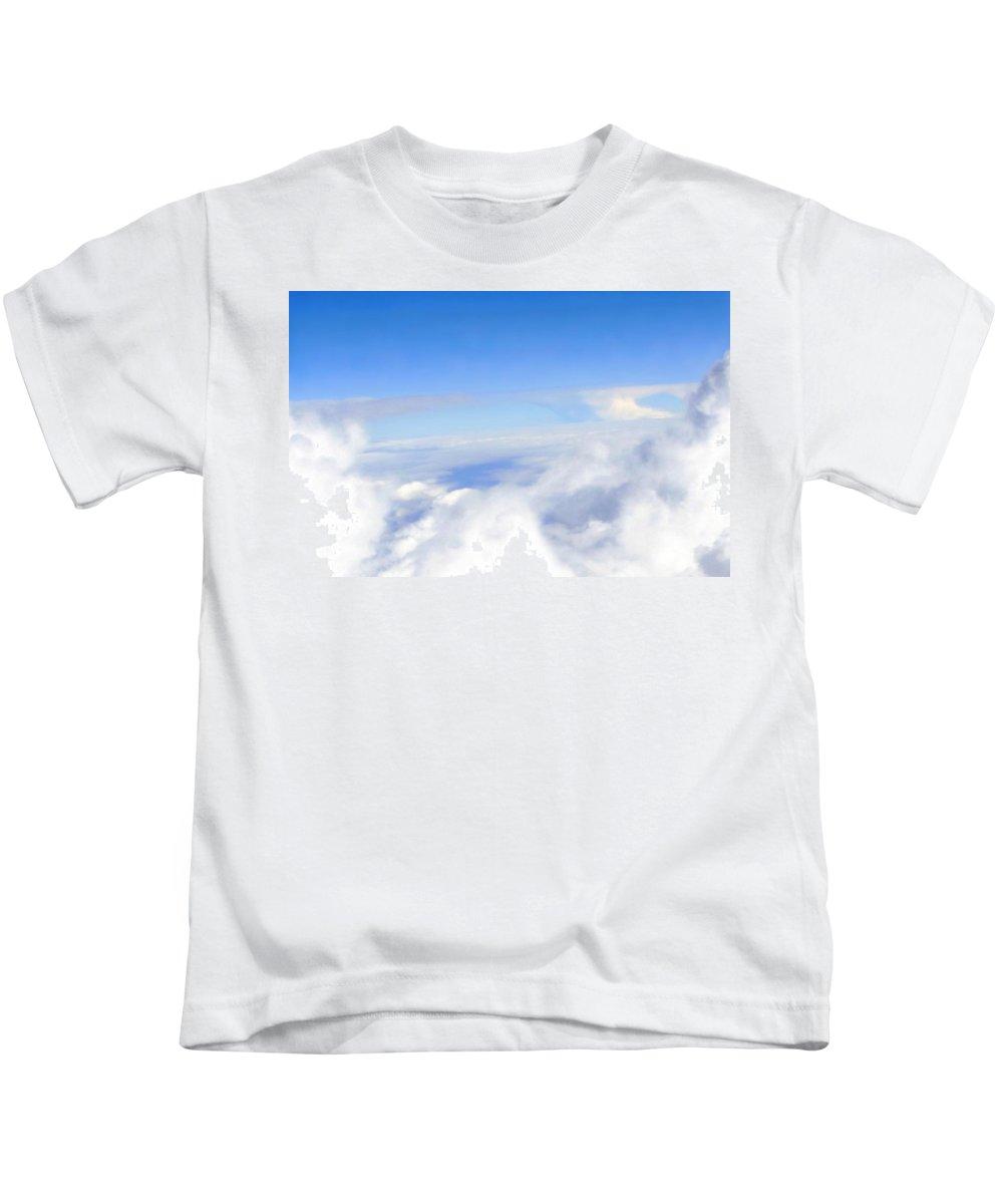 Bridges Kids T-Shirt featuring the photograph Bridges In The Clouds by Natalie Ortiz