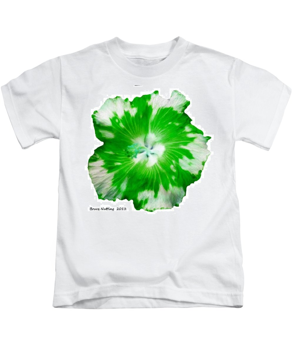 Appaloosa Kids T-Shirt featuring the painting Bright Green Appaloosa by Bruce Nutting