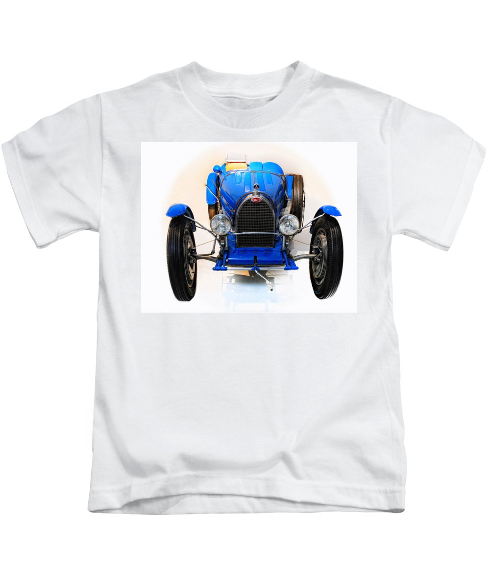 Bugatti Kids T-Shirt featuring the photograph Bugatti Sport Type 51a by Dave Mills