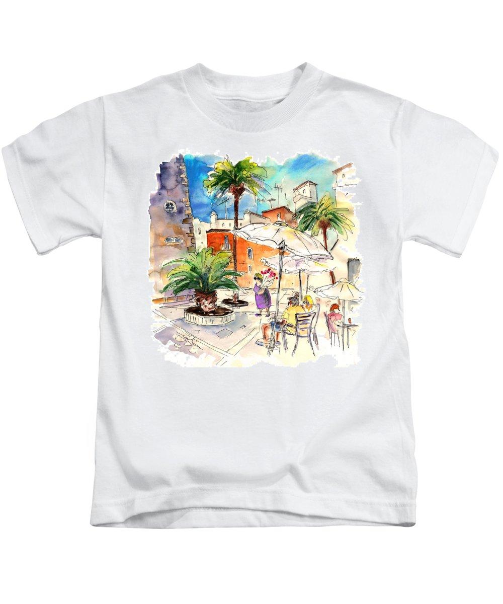 Travel Kids T-Shirt featuring the painting Cadiz Spain 13 by Miki De Goodaboom
