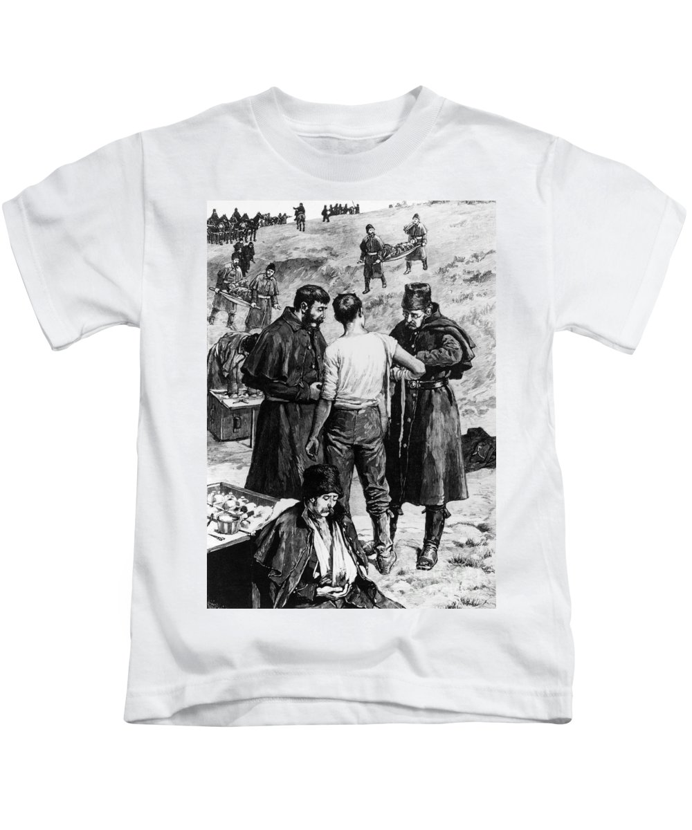 1885 Kids T-Shirt featuring the photograph Canada: Riel Rebellion, 1885 by Granger