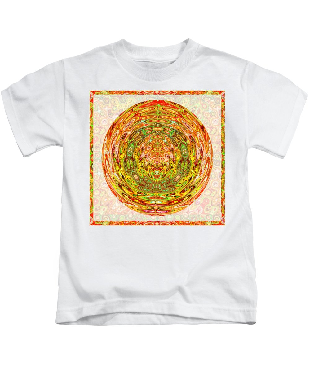 Chakra Kids T-Shirt featuring the mixed media Canadian Fall Colors Conversion Into Chakra Wheel Deco Enery Mandala by Navin Joshi