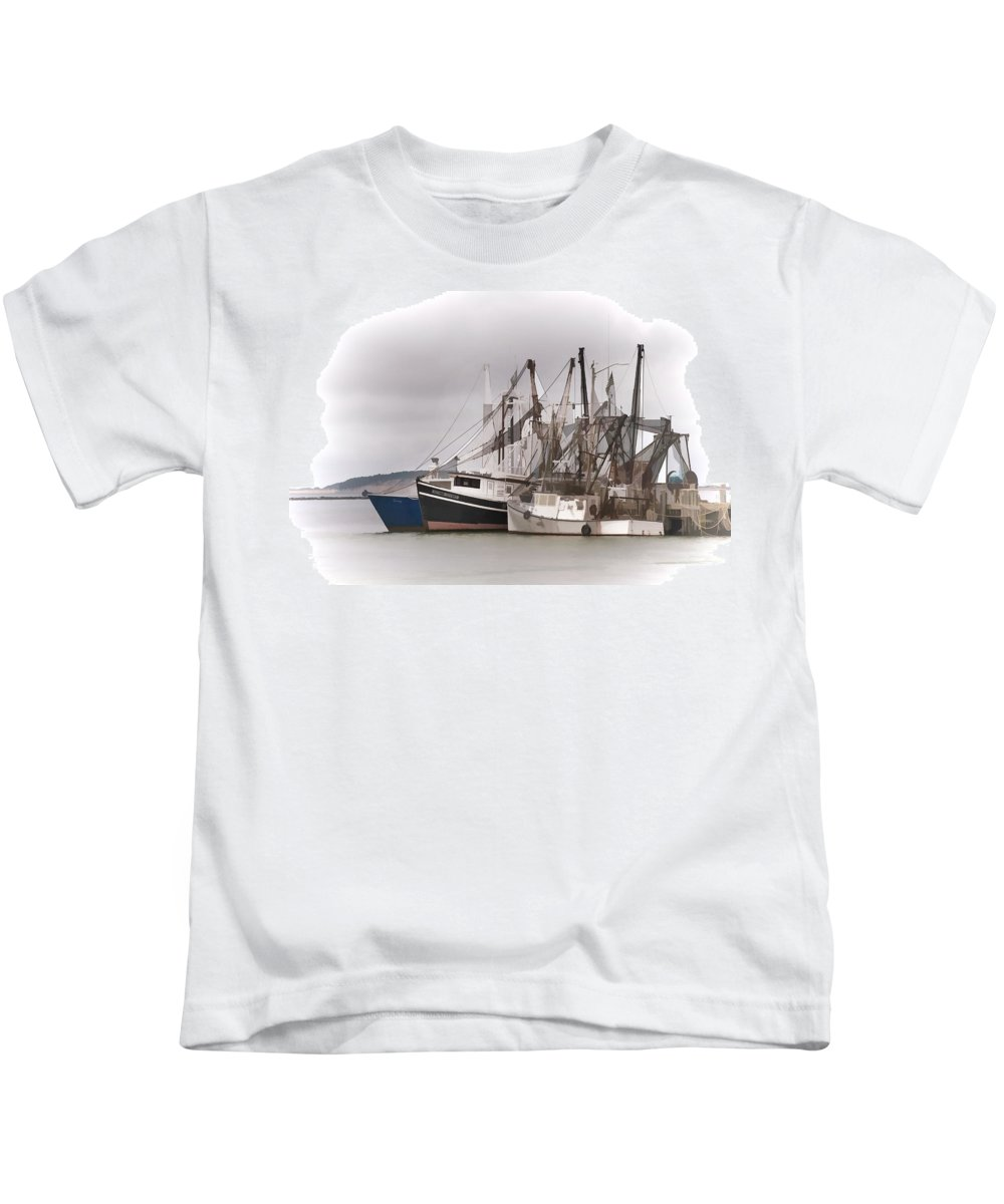 Fish Kids T-Shirt featuring the photograph Cape Cod Fishing Boats by Ray Summers Photography