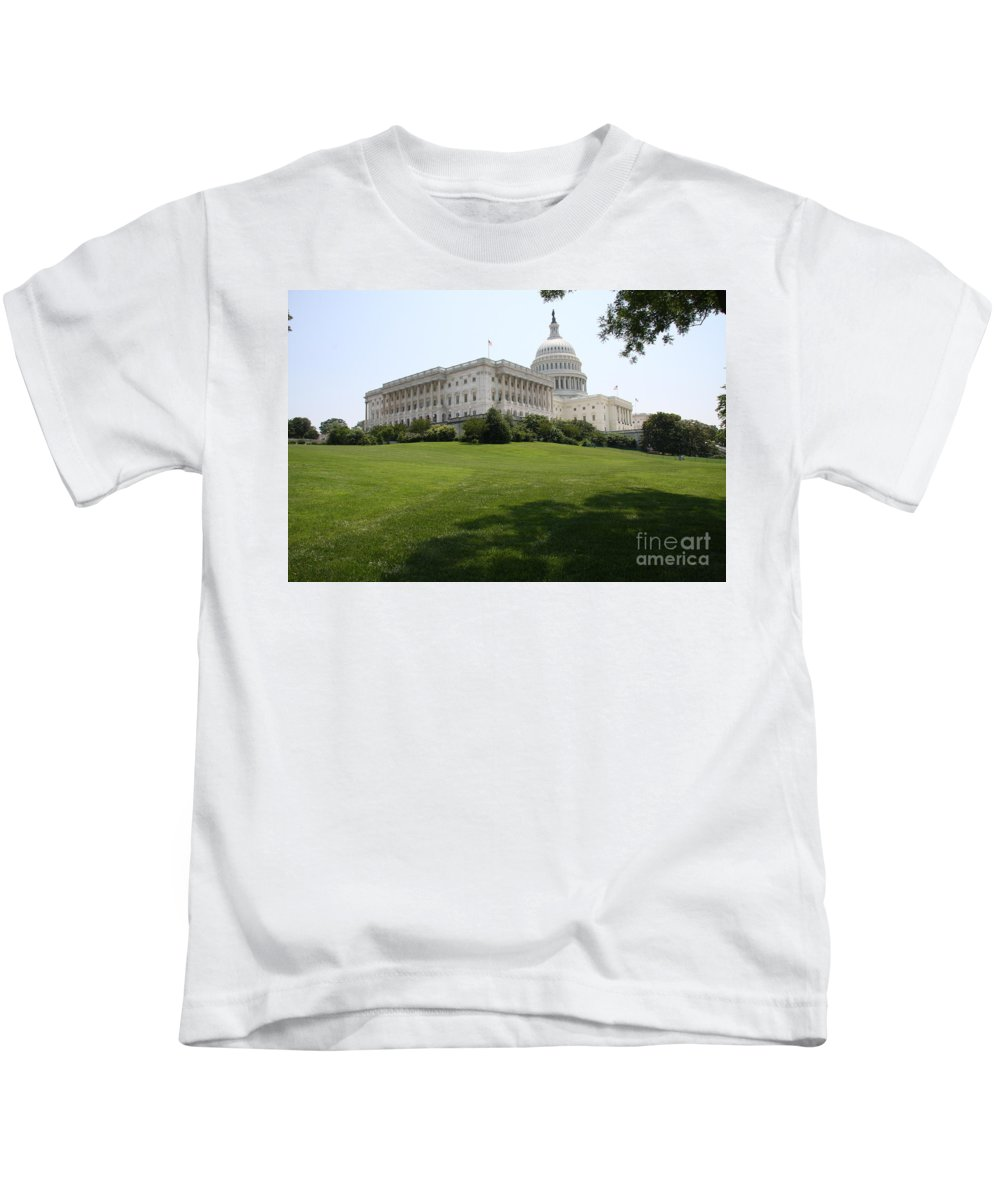 Capitol Kids T-Shirt featuring the photograph Capitol Hill View Washington Dc by Christiane Schulze Art And Photography