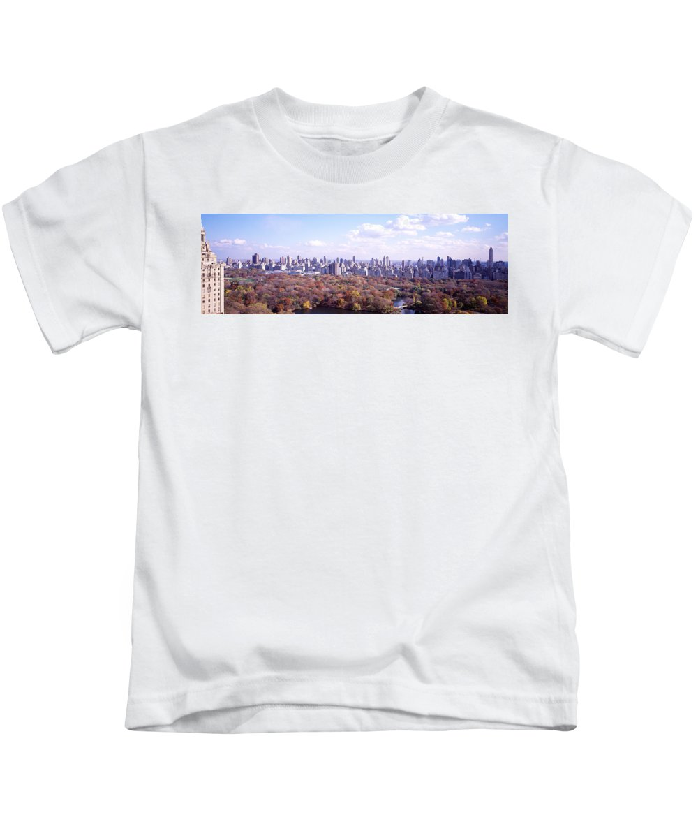 Photography Kids T-Shirt featuring the photograph Central Park, Nyc, New York City, New by Panoramic Images