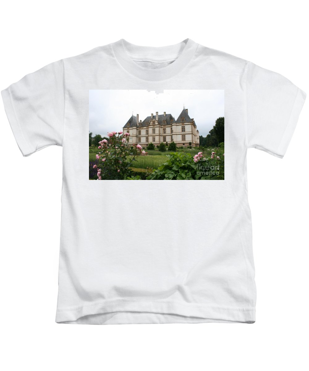 Palace Kids T-Shirt featuring the photograph Chateau De Cormatin Garden by Christiane Schulze Art And Photography