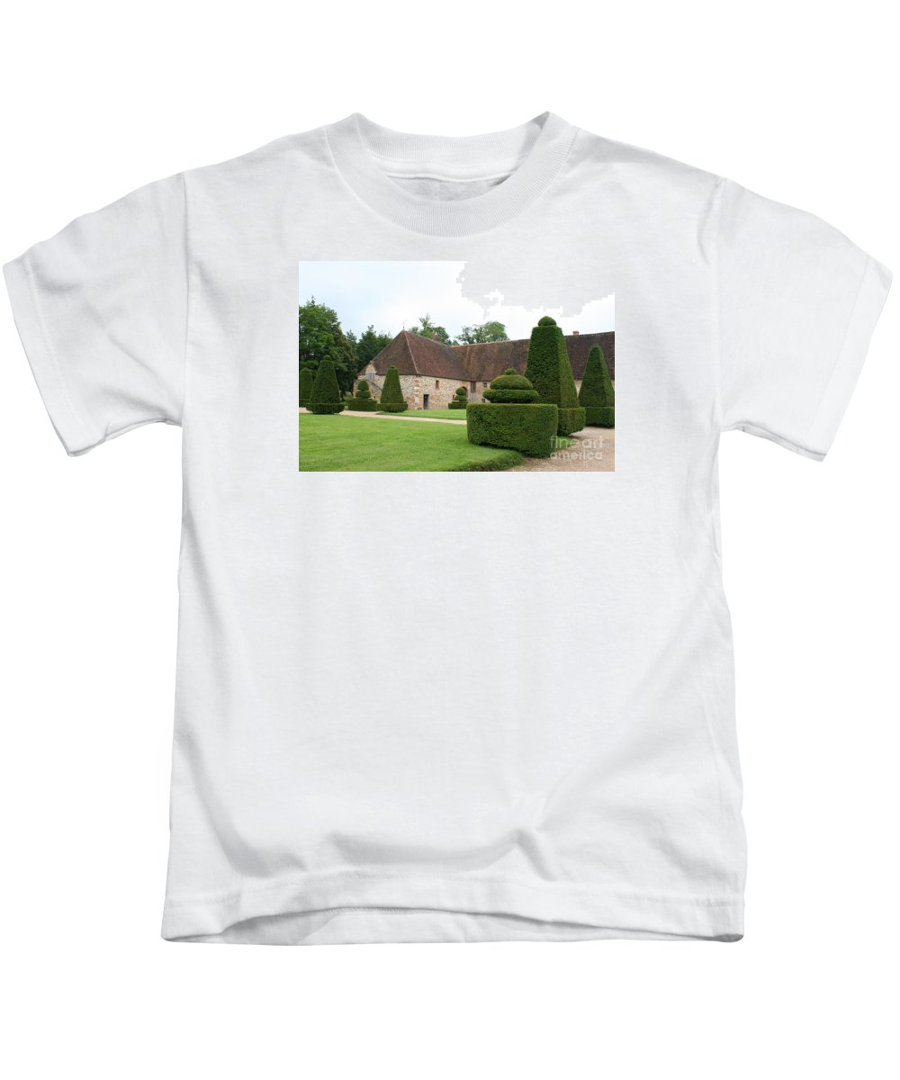 Stable Kids T-Shirt featuring the photograph Chateau De Cormatin Stable by Christiane Schulze Art And Photography