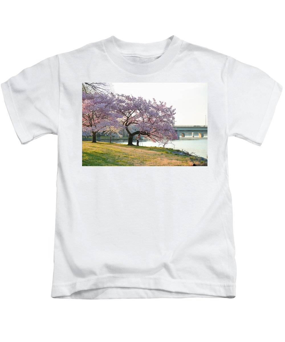 Architectural Kids T-Shirt featuring the photograph Cherry Blossoms 2013 - 003 by Metro DC Photography