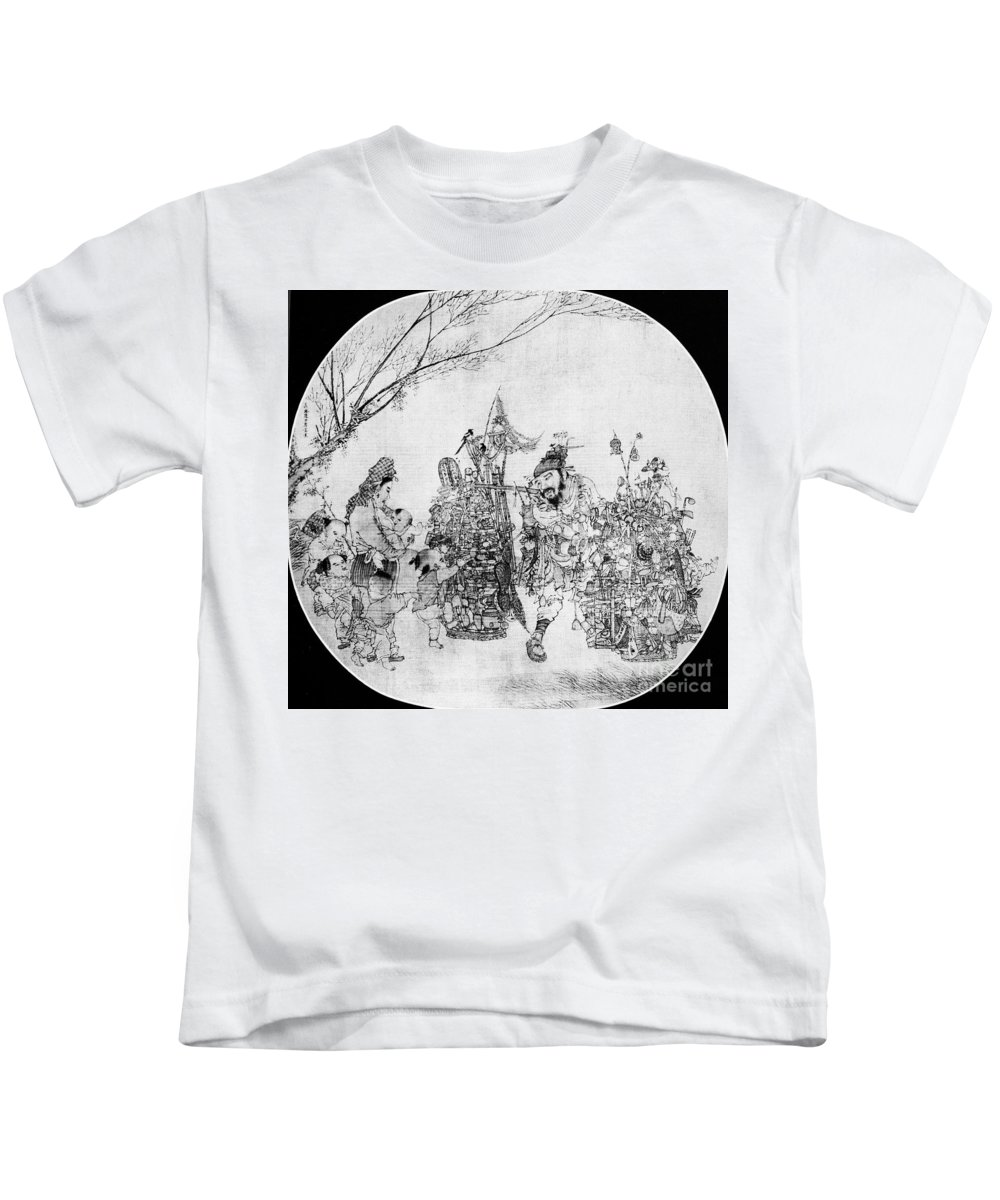13th Century Kids T-Shirt featuring the photograph China: Peddler & Children by Granger