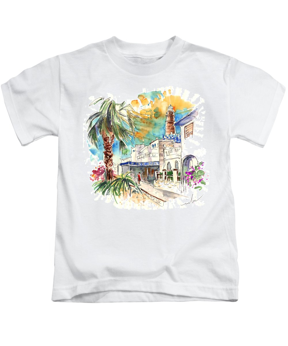 Travel Kids T-Shirt featuring the painting Chipiona Spain 05 by Miki De Goodaboom