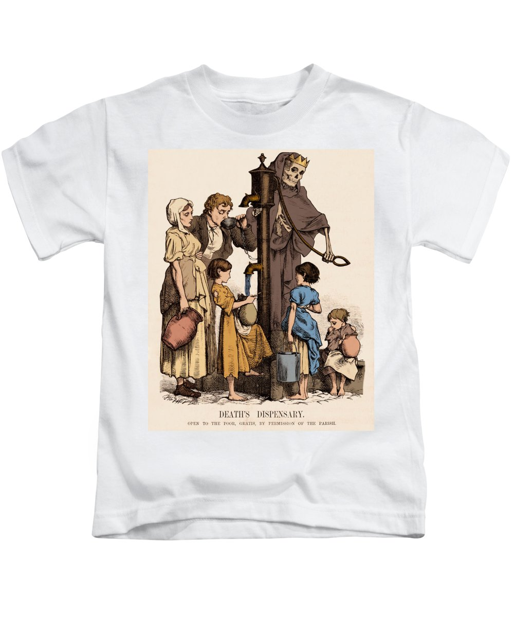 Science Kids T-Shirt featuring the photograph Cholera-infected Pump, 1854 by Science Source