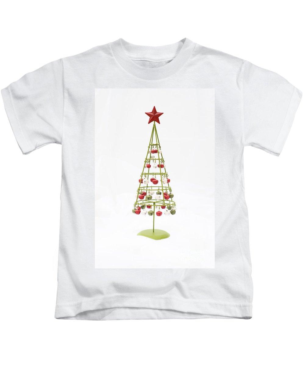 Christmas Bells Kids T-Shirt featuring the photograph Christmas Bells by Anne Gilbert