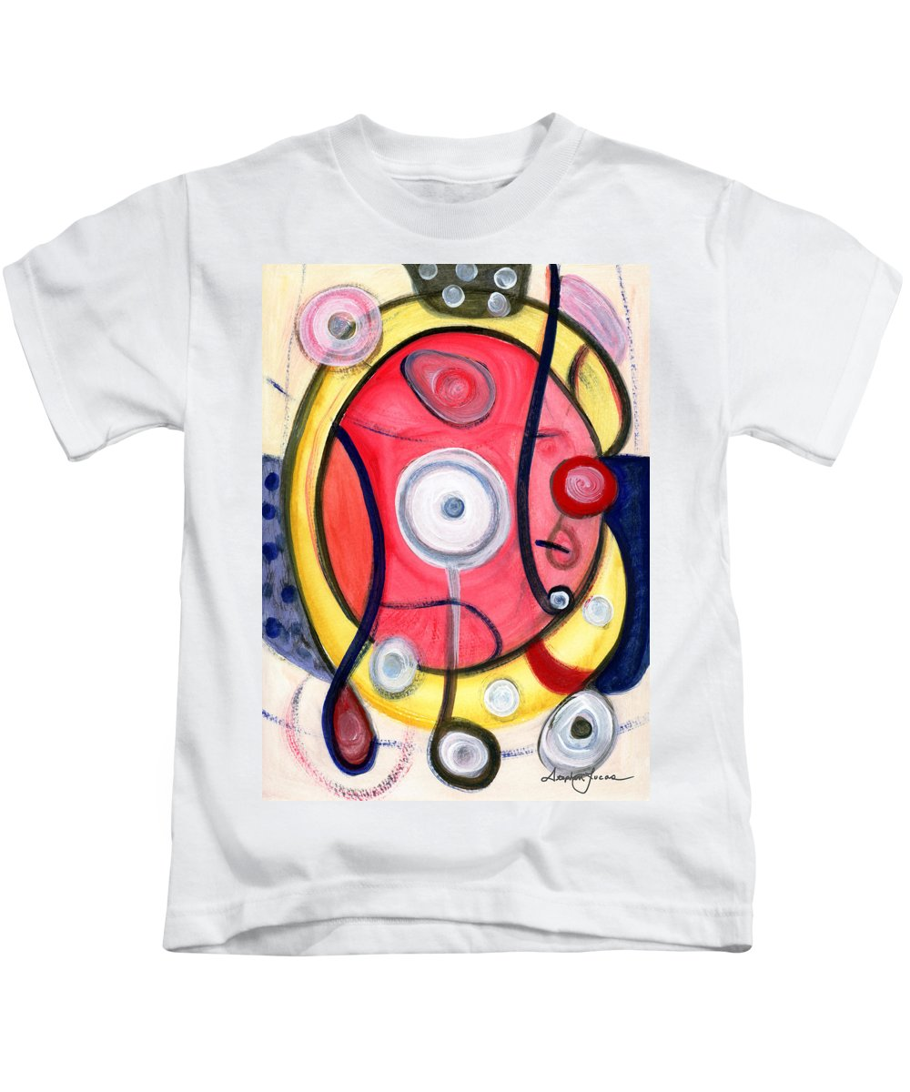 Abstract Art Kids T-Shirt featuring the painting Circle For Lovers by Stephen Lucas