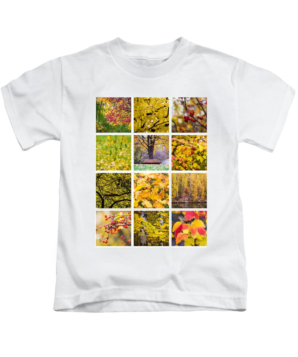 Art Kids T-Shirt featuring the photograph Collage October - Featured 3 by Alexander Senin