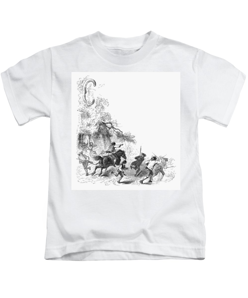 1775 Kids T-Shirt featuring the photograph Concord: Minutemen, 1775 by Granger