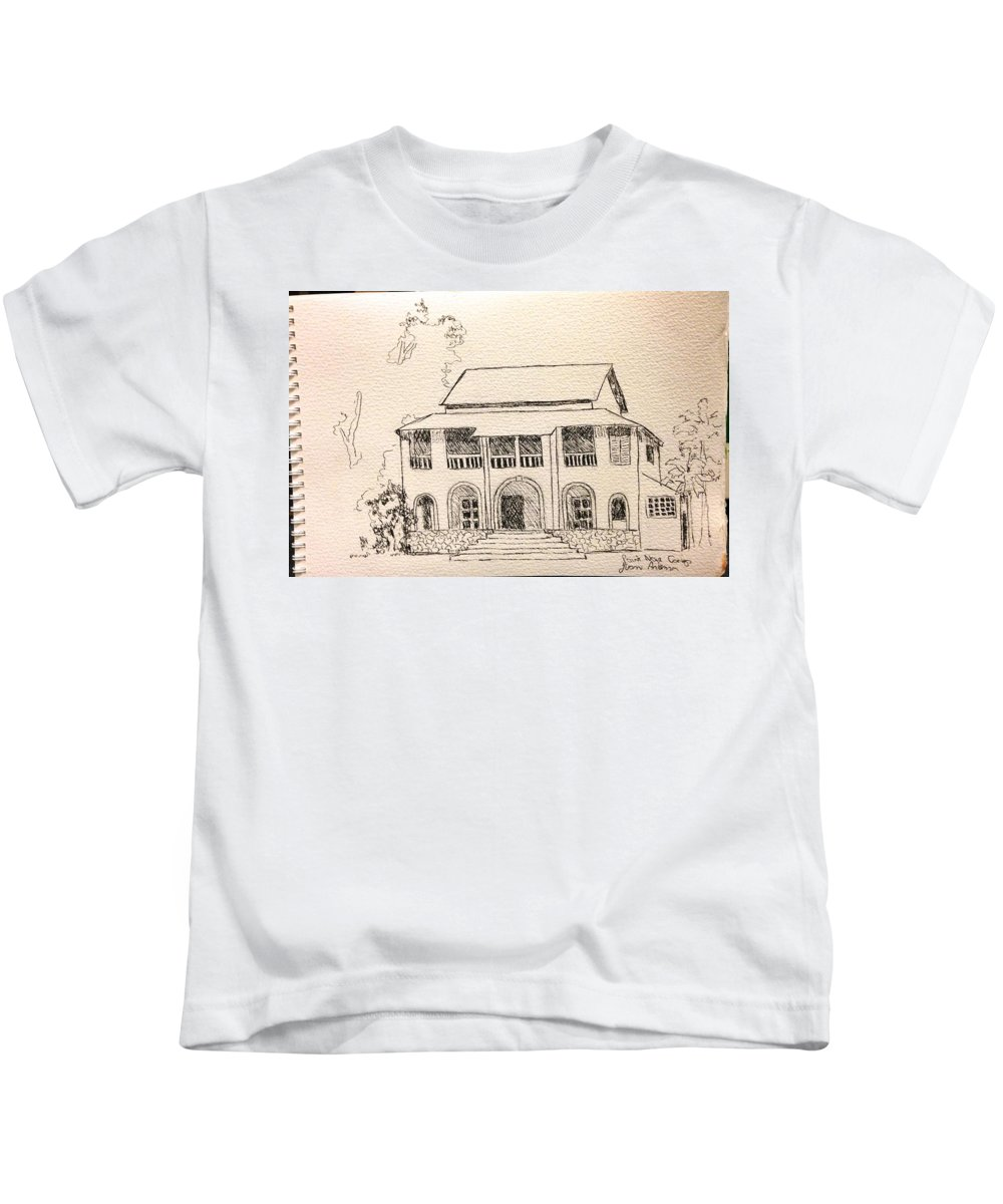 Kids T-Shirt featuring the drawing Congo by Yvonne Ankerman