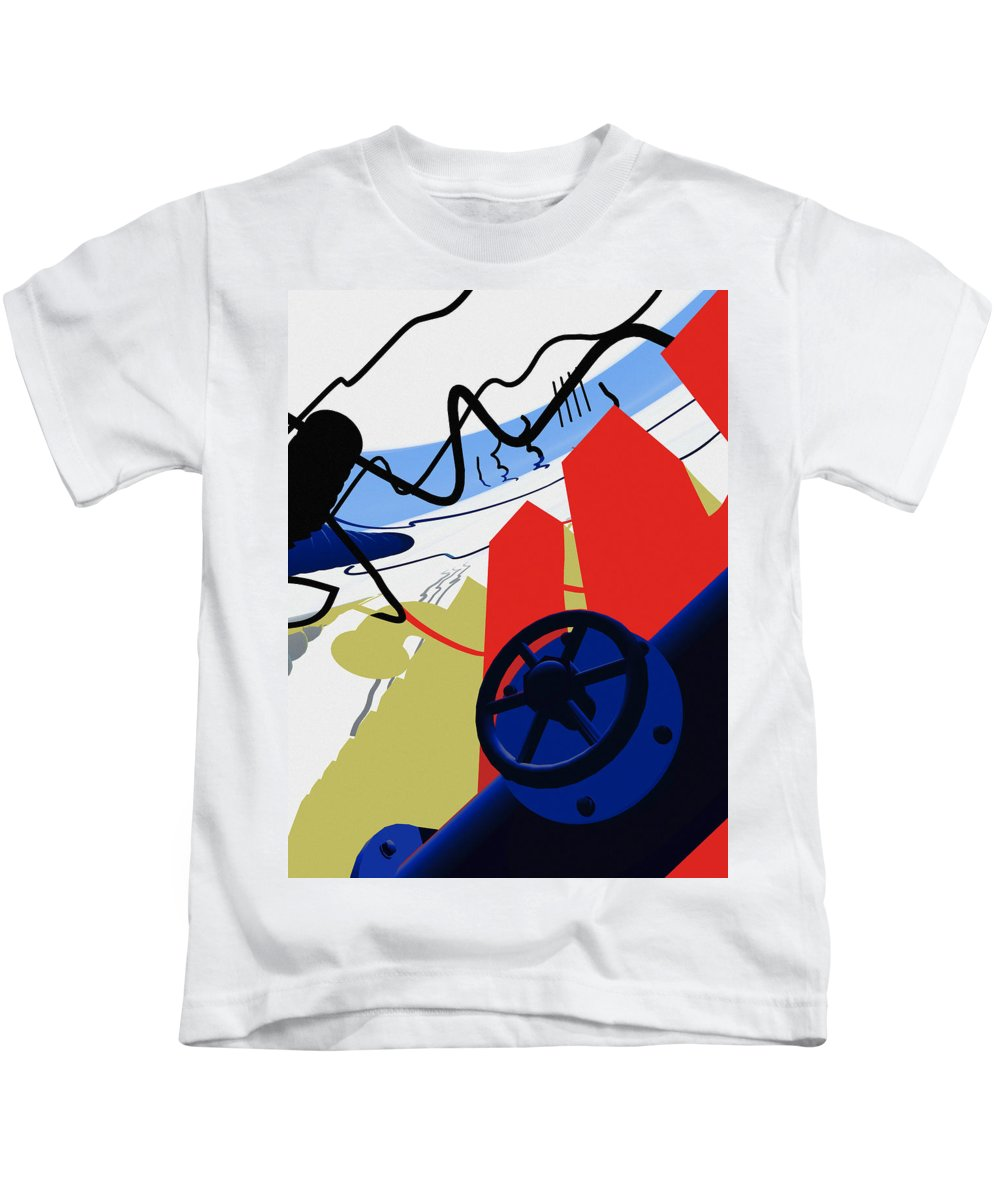Abstract Kids T-Shirt featuring the digital art Connections by Richard Rizzo