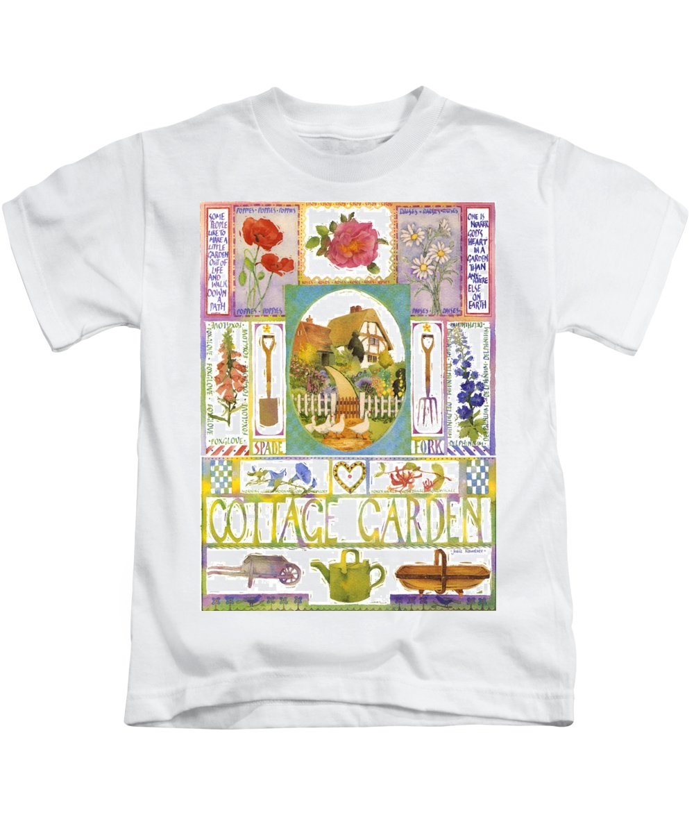 Julia Rowntree Kids T-Shirt featuring the photograph Cottage Garden by Julia Rowntree
