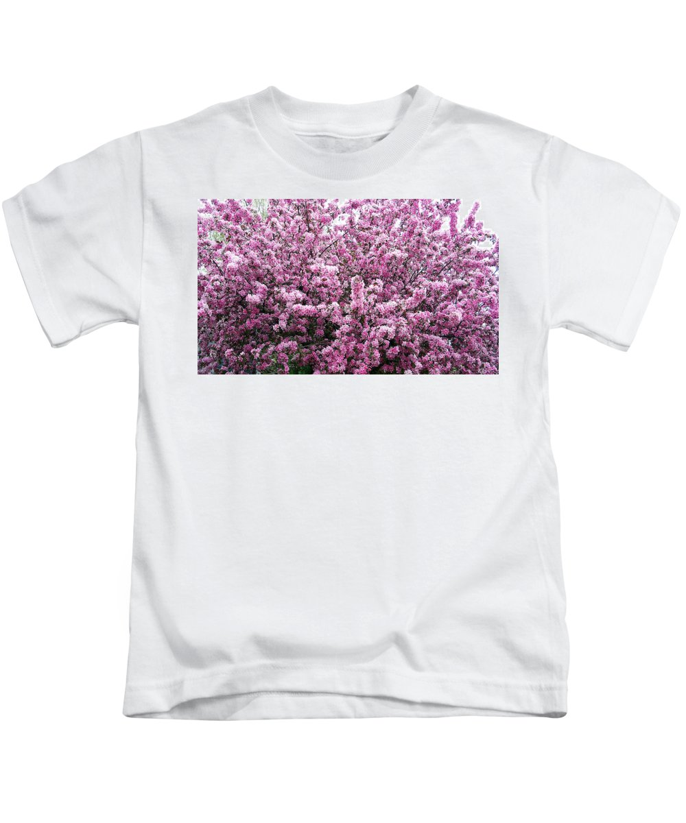 Crab Apple Tree Kids T-Shirt featuring the photograph Crab Apple Tree by Aimee L Maher ALM GALLERY