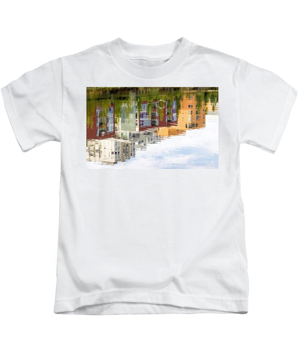 Kate Brown Kids T-Shirt featuring the photograph Creekside Reflections by Kate Brown