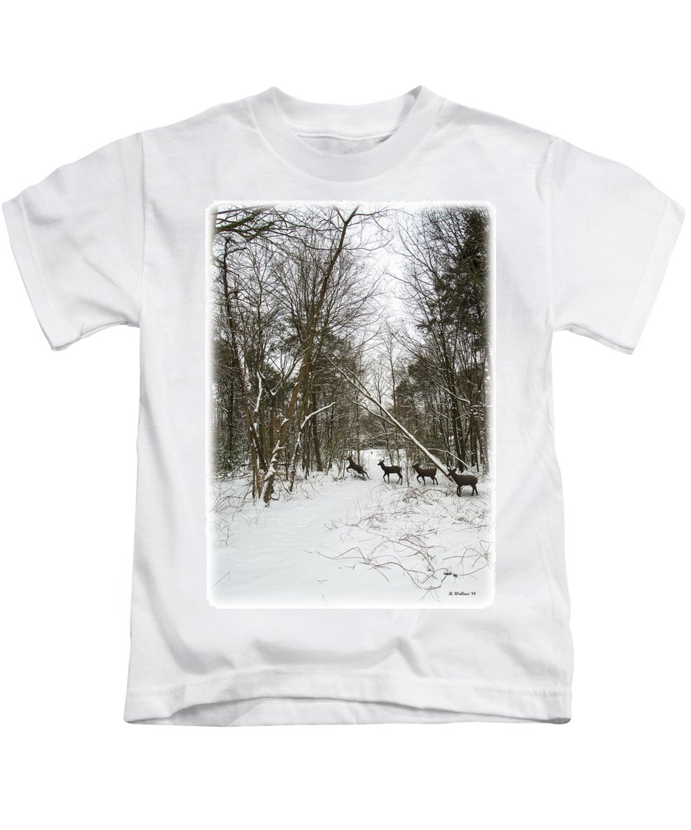 2d Kids T-Shirt featuring the photograph Crossing by Brian Wallace