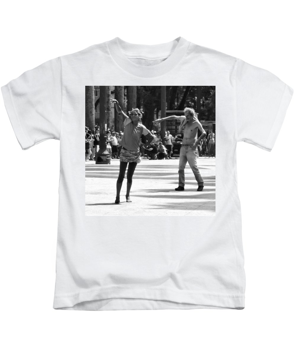 Dancers Kids T-Shirt featuring the photograph Dancers In Sao Paulo by Julie Niemela