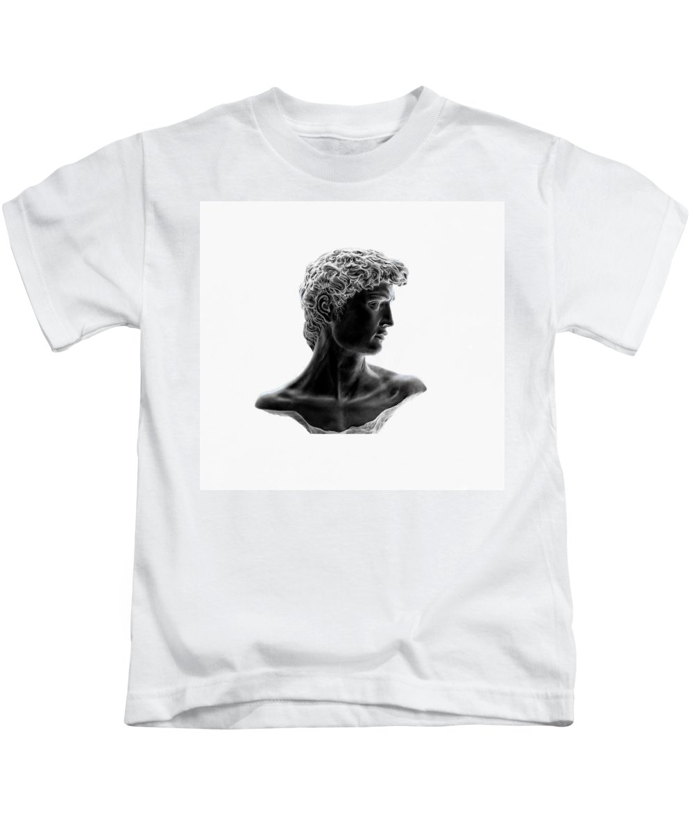 David Kids T-Shirt featuring the photograph David 46 by Peter Lloyd