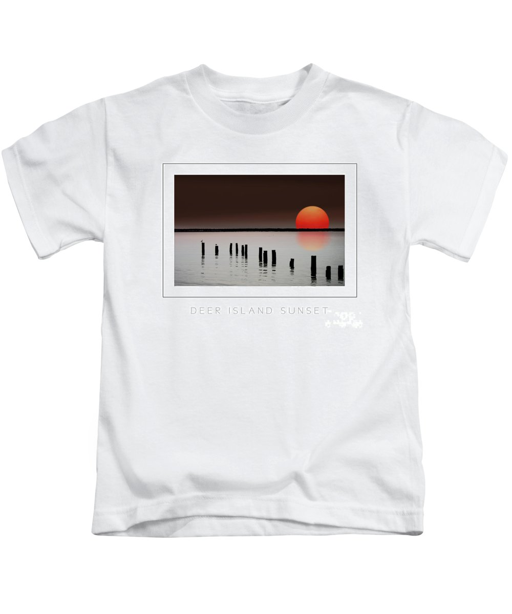 Island Kids T-Shirt featuring the photograph Deer Island Sunset Poster by Mike Nellums